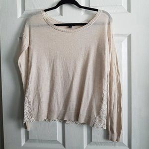 American Eagle Lace Back Top